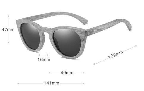 okulary dębowe damskie wymiary