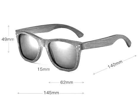 Drewniane okulary przeciwsłoneczne B01-czarne - bambus 4