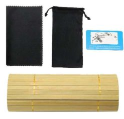 Drewniane okulary przeciwsłoneczne B07- niebieskie - bambus 6