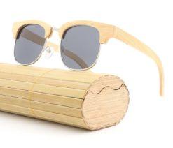 Drewniane okulary przeciwsłoneczne B10-czarne – bambus