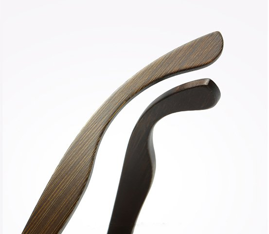Drewniane okulary przeciwsłoneczne B07- niebieskie - bambus 13