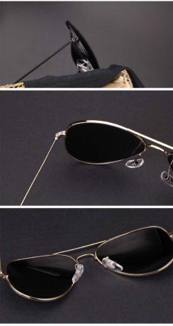 Okulary przeciwsłoneczne aluminiowe M05- srebrne 2