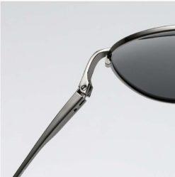 Okulary przeciwsłoneczne aluminiowe M06 czarno-czarne 4