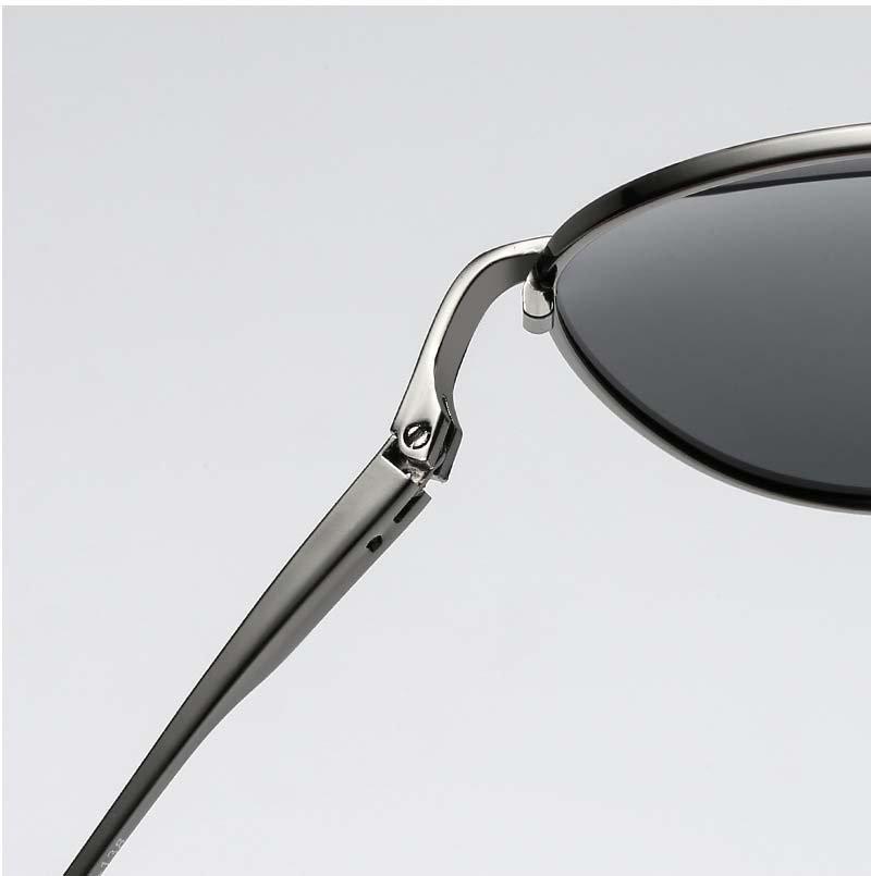Okulary przeciwsłoneczne aluminiowe M06 czarno-czarne 9