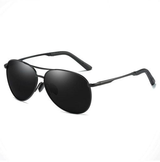 Okulary przeciwsłoneczne aluminiowe M06 czarno-czarne