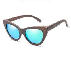 Drewniane okulary przeciwsłoneczne B09- zielone – bambus