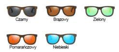 Drewniane okulary przeciwsłoneczne B07- niebieskie - bambus 7