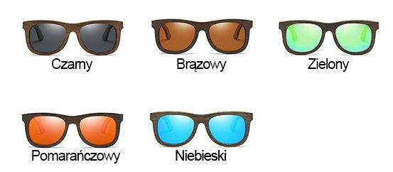 Drewniane okulary przeciwsłoneczne B07- niebieskie - bambus 16