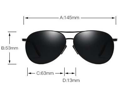 Okulary przeciwsłoneczne aluminiowe M06 czarno-czarne 5