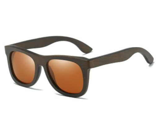 Drewniane okulary przeciwsłoneczne B07- brązowe – bambus