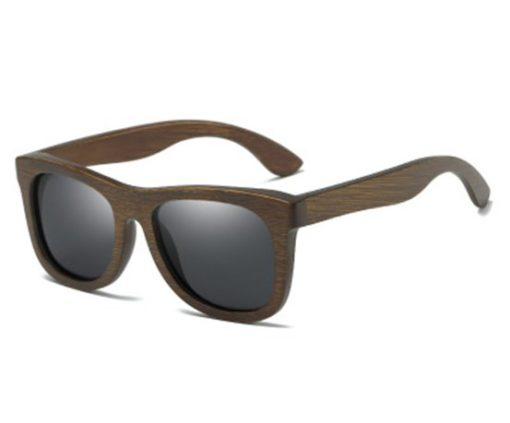Drewniane okulary przeciwsłoneczne B07- czarne – bambus