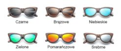 Drewniane okulary przeciwsłoneczne B09- brązowe - bambus 6
