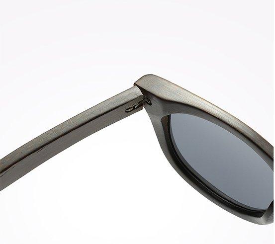 Drewniane okulary przeciwsłoneczne B07- niebieskie - bambus 12