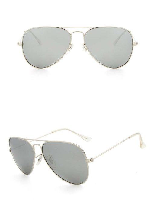 Okulary przeciwsłoneczne aluminiowe M05- srebrne