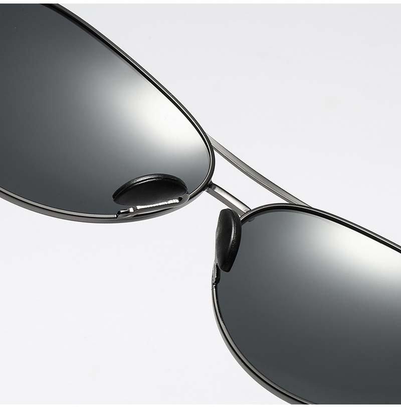 Okulary przeciwsłoneczne aluminiowe M06 czarno-czarne 10