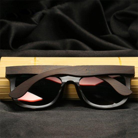 Drewniane okulary przeciwsłoneczne B07- brązowe - bambus 15