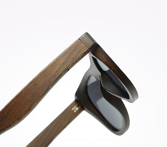 Drewniane okulary przeciwsłoneczne B07- niebieskie - bambus 11