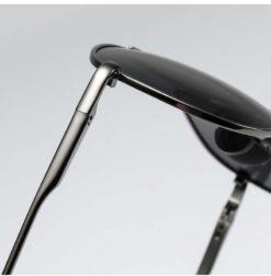 Okulary przeciwsłoneczne aluminiowe M06 czarno-czarne 2
