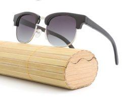 Drewniane okulary przeciwsłoneczne B11 – czarne – bambus