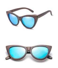 Drewniane okulary przeciwsłoneczne B09- niebieskie – bambus