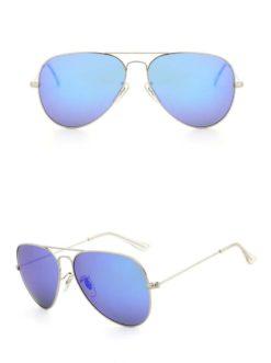 Okulary przeciwsłoneczne aluminiowe M05- ciemno-niebieskie