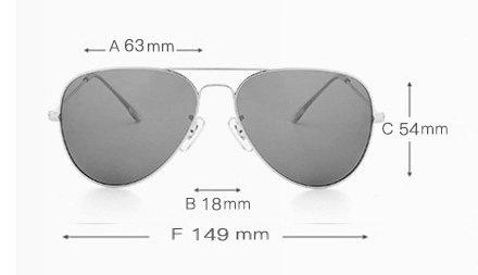 Okulary przeciwsłoneczne aluminiowe M05- srebrne 3