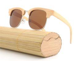 Drewniane okulary przeciwsłoneczne B10-brązowe – bambus