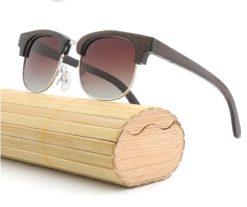 Drewniane okulary przeciwsłoneczne B11 – brązowe – bambus