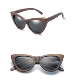 Drewniane okulary przeciwsłoneczne B09- czarne – bambus