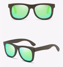 Drewniane okulary przeciwsłoneczne B07- zielone – bambus
