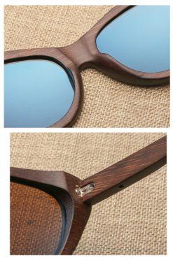 Drewniane okulary przeciwsłoneczne B09- brązowe - bambus 4
