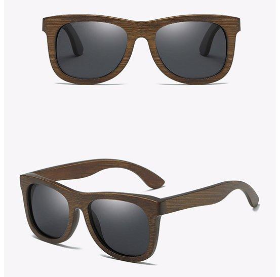 Drewniane okulary przeciwsłoneczne B07- czarne - bambus 13