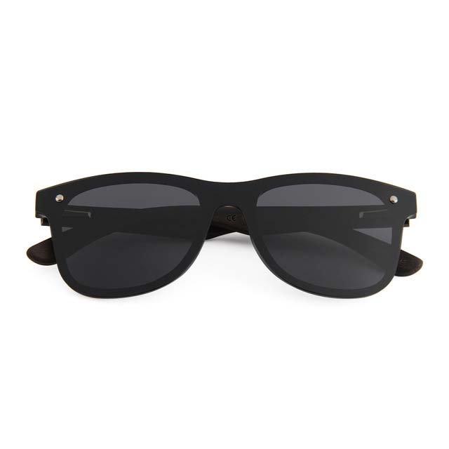 Drewniane okulary przeciwsłoneczne C04- czarne - heban 5