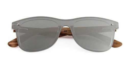 Drewniane okulary przeciwsłoneczne C04- srebrne – zebrano