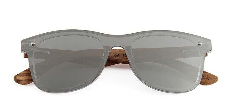 Drewniane okulary przeciwsłoneczne C04- srebrne - zebrano 4