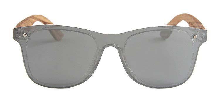Drewniane okulary przeciwsłoneczne C04- srebrne - zebrano 5