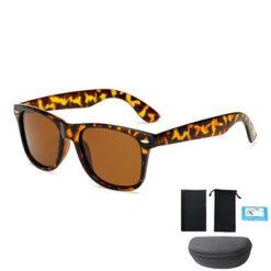 Okulary przeciwsłoneczne D03 panterka brązowe