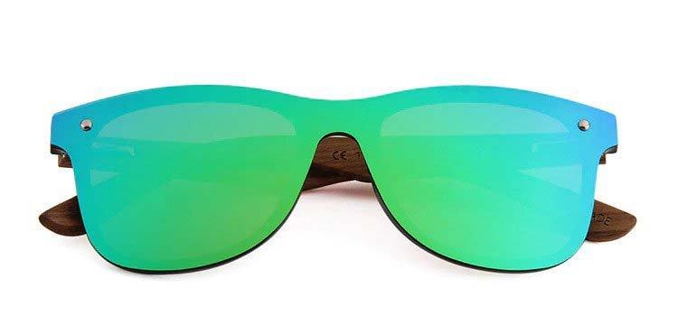 Drewniane okulary przeciwsłoneczne C04- zielone - zebrano 5
