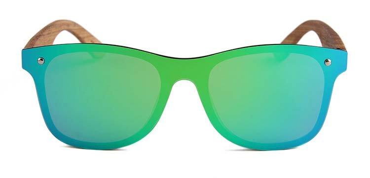 Drewniane okulary przeciwsłoneczne C04- zielone - zebrano 6