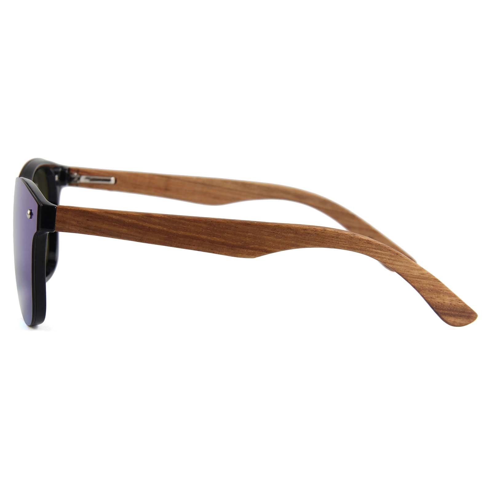 Drewniane okulary przeciwsłoneczne C04- zielone - zebrano 7