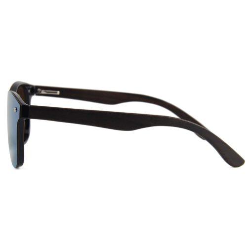 Drewniane okulary przeciwsłoneczne C04- niebieskie – heban