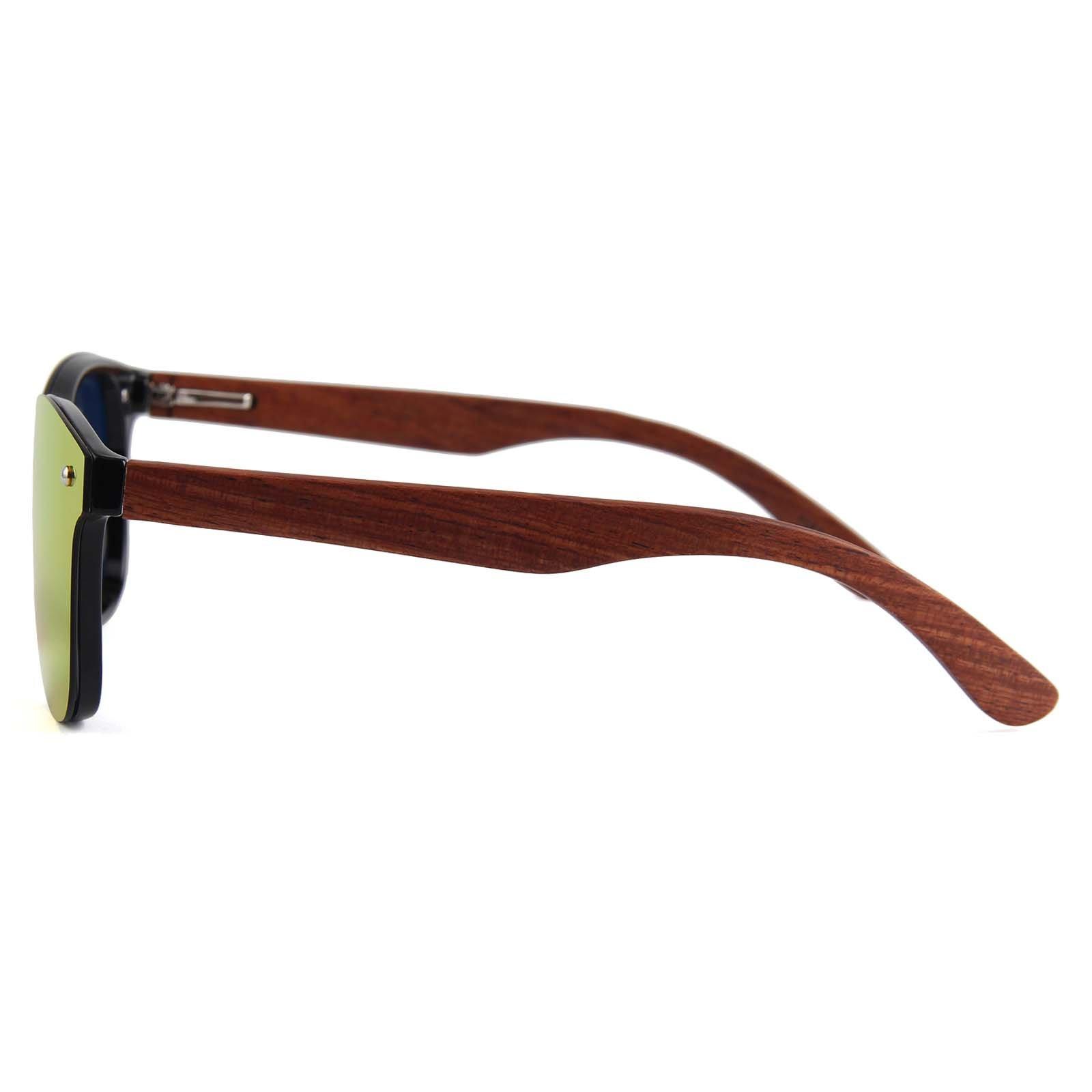 Drewniane okulary przeciwsłoneczne C04- pomarańczowe - palisander 7