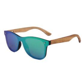 okulary drewniane lustrzanki c04 zielone