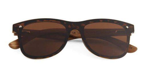 Drewniane okulary przeciwsłoneczne C04- panterki- zebrano