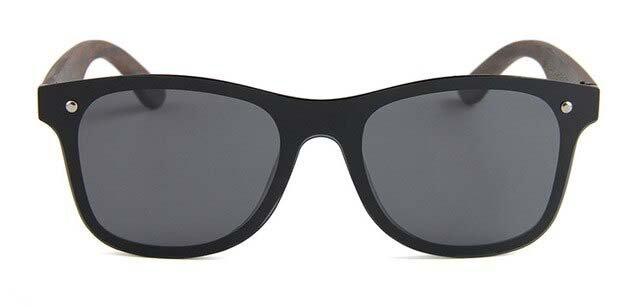 Drewniane okulary przeciwsłoneczne C04- czarne - heban 6