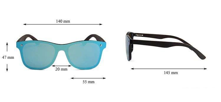 Drewniane okulary przeciwsłoneczne C04- niebieskie - heban 5