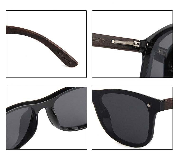 Drewniane okulary przeciwsłoneczne C04- srebrne - zebrano 9