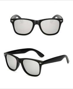 Okulary przeciwsłoneczne D02 błyszczące srebrne