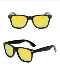 Okulary przeciwsłoneczne D02 błyszczące żółte