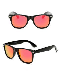 Okulary przeciwsłoneczne D02 błyszczące czerwone